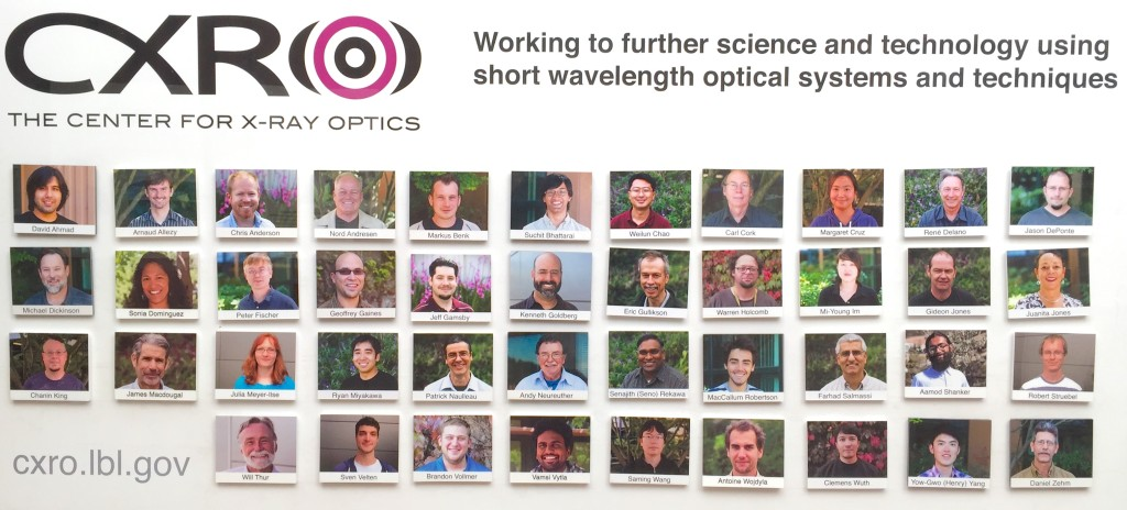 Staff of the Center for X-Ray Optics at Lawrence Berkeley National Laboratory, circa 2016