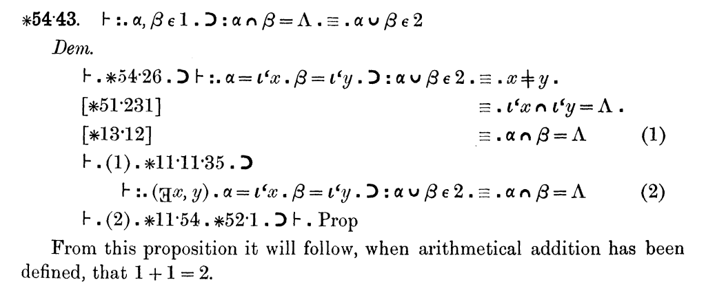Principia Mathematica (theorem 54)