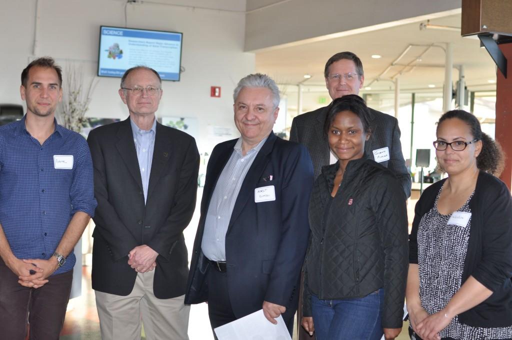 Myself with Lab director Mike Witherell, deputy director Horst Simon, Lab CTO Glenn Kubiak, Etosha and Valentine