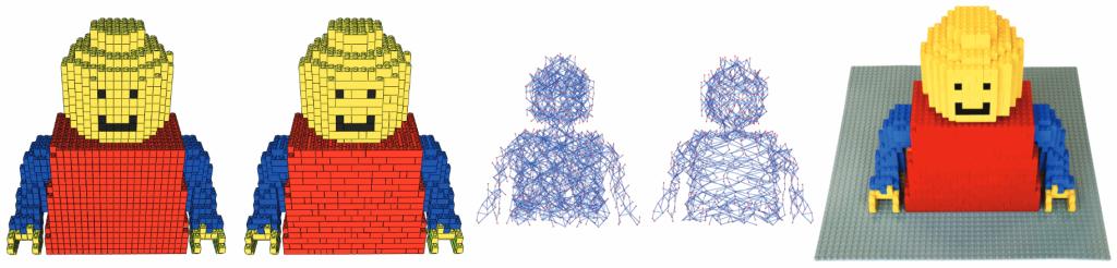 Decomposition d'un objet en brique de Lego